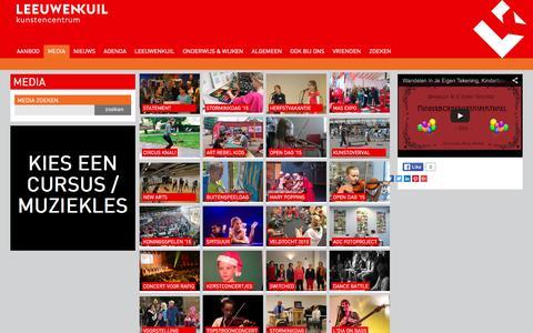 Screenshot of Press Page leeuwenkuil.nl - Media - foto en video - captured Feb. 8, 2016