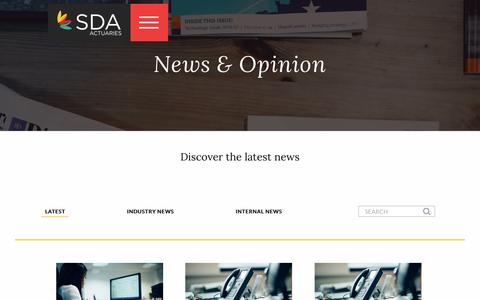 Screenshot of Press Page sda-llp.co.uk - Discover the Latest Actuarial News | Steve Dixon - captured May 26, 2017