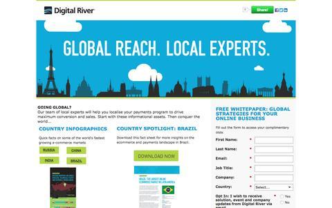 Screenshot of Landing Page digitalriver.com - Digital River World Payments: Global Reach. Local Experts - captured March 25, 2016
