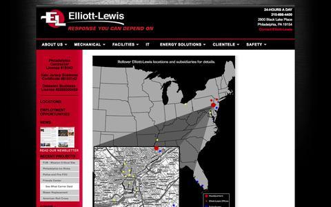 Screenshot of Locations Page elliottlewis.com - Welcome To Elliott-Lewis - captured Sept. 29, 2014