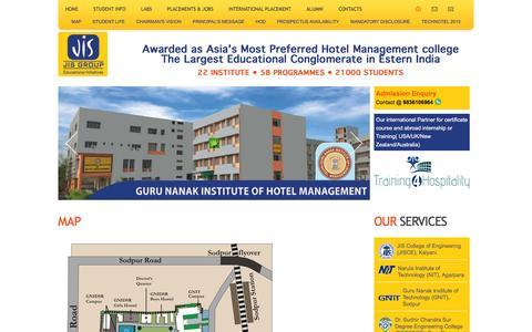 Screenshot of Maps & Directions Page gnihm.ac.in - GNIHM- Best Hotel Management College in Kolkata - Guru Nanak Institute of Hotel Management - captured Feb. 2, 2016