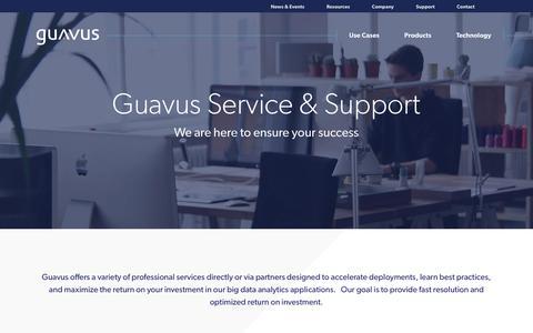 Screenshot of Support Page guavus.com - Guavus customer support - captured Oct. 10, 2017