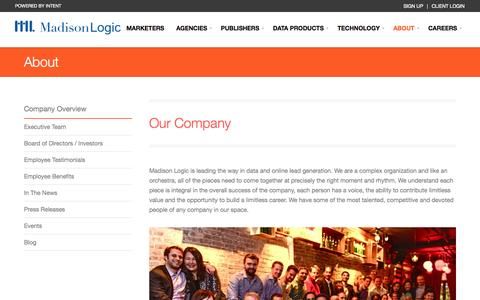 Screenshot of About Page Team Page madisonlogic.com - About | Madison Logic - captured Sept. 16, 2014