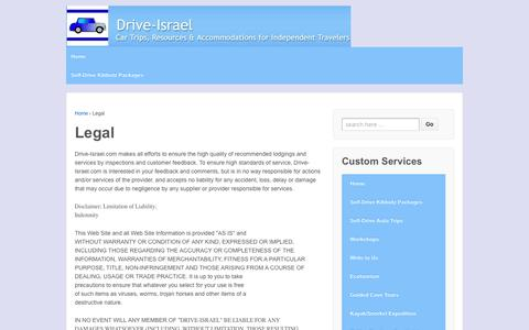 Screenshot of Terms Page drive-israel.com - Legal  – Drive Israel - captured Oct. 24, 2018