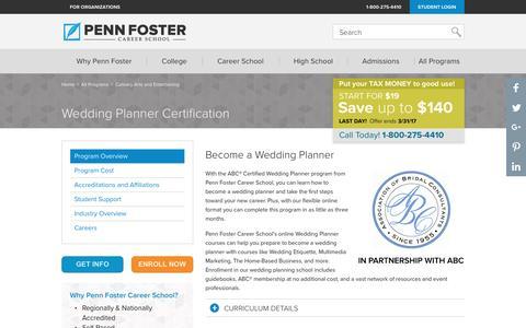 Become a Wedding Planner - Online Certification | Penn Foster Career School