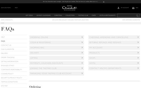 Screenshot of FAQ Page hotelchocolat.com - Frequently Asked Questions - Hotel Chocolat UK - captured Nov. 13, 2017