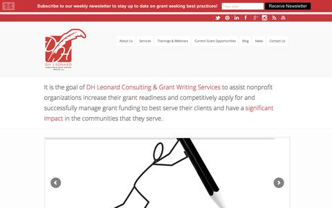 Screenshot of Home Page dhleonardconsulting.com - Grant Writing and Consulting Services| DH Leonard Consulting - captured Oct. 11, 2017