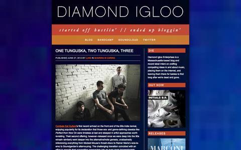 Screenshot of Home Page Blog diamondigloo.com - Diamond Igloo | started off hustlin'   //   ended up bloggin' - captured Sept. 30, 2014