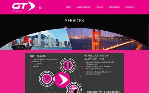 Screenshot of Services Page globaltransit.net - Global Transit  » Services - captured Aug. 15, 2017
