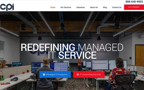 Screenshot of Home Page cpisolutions.com - Managed IT Services Provider | CPI Solutions - captured Sept. 13, 2019