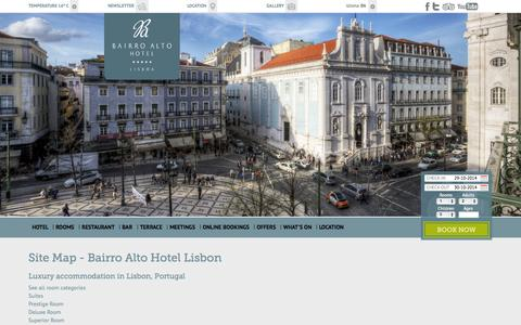 Screenshot of Site Map Page bairroaltohotel.com - Site Map | Bairro Alto Hotel Lisbon - captured Oct. 29, 2014