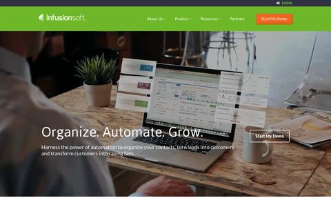 Screenshot of Home Page infusionsoft.com - Small Business CRM | Marketing Software Small Business | Infusionsoft - captured Sept. 30, 2015