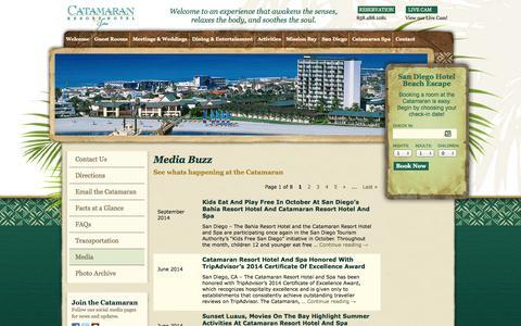 Screenshot of Press Page catamaranresort.com - Media | Catamaran Resort and Spa, San Diego, CA - captured Sept. 23, 2014