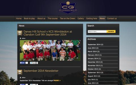 Screenshot of Press Page clandongolf.co.uk - News | Clandon Golf - captured Sept. 29, 2014