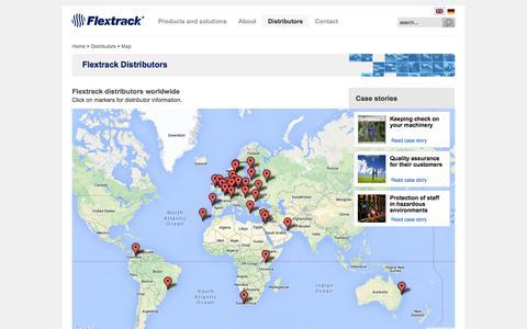 Screenshot of Maps & Directions Page flextrack.dk - Flextrack Distributors - captured Oct. 6, 2014