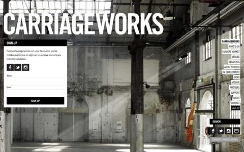 Screenshot of Signup Page carriageworks.com.au - Carriageworks - captured May 15, 2017