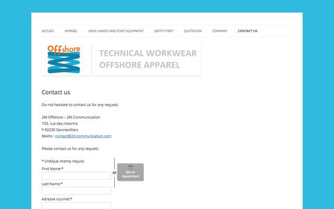 Screenshot of Contact Page 2moffshore.com - Contact 2M Offshore  | 2M Offshore - captured Oct. 1, 2014