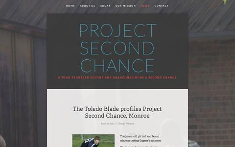 Screenshot of Press Page projectsecondchancemi.com - News — Project Second Chance - captured Oct. 3, 2014