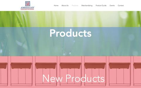 Screenshot of Products Page americangardenworks.com - Products - captured Nov. 20, 2016