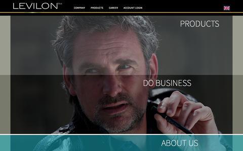 Screenshot of Home Page levilon.com - Home - Levilon - captured Sept. 19, 2015