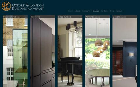 Screenshot of Services Page olbc.co.uk - Architectural Design, Planning and Construction London - captured Feb. 21, 2016