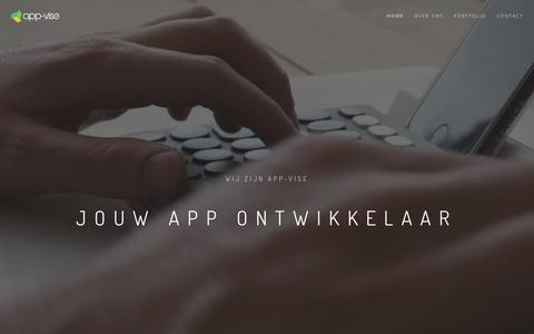 Screenshot of Home Page app-vise.nl - App ontwikkelaar | App-vise uw partner - captured July 30, 2018