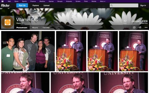 Screenshot of Flickr Page flickr.com - Flickr: Vitamin OC's Photostream - captured Oct. 26, 2014