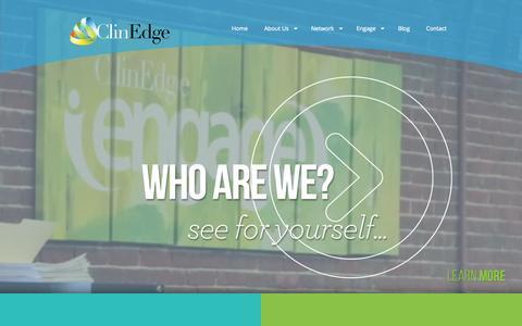 Screenshot of Home Page clin-edge.com - ClinEdge - Business Development, Network of Sites, Patient Recruitment - captured June 17, 2015