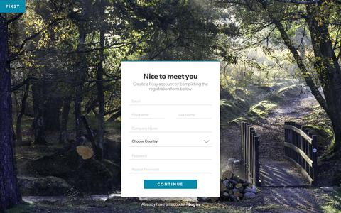 Screenshot of Signup Page pixsy.com - Pixsy   Register - captured April 16, 2019