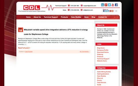 Screenshot of Case Studies Page cdluk.com - Case Studies - CDL - captured Oct. 2, 2014