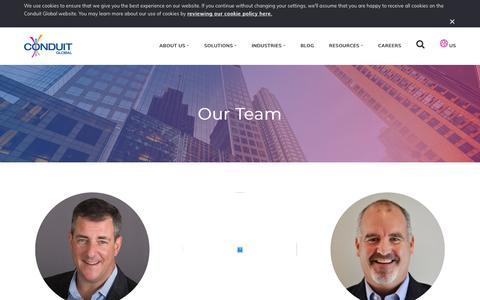 Screenshot of Team Page conduitglobal.com - Our Team - Conduit Global - captured Jan. 13, 2018