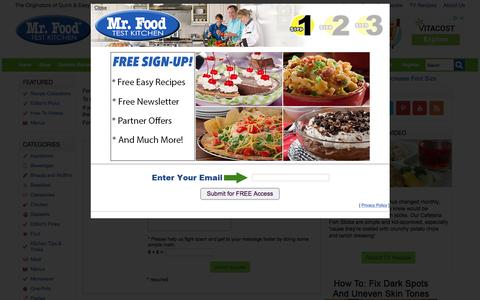 Screenshot of Contact Page mrfood.com - Mr. Food OOH IT'S SO GOOD!! - captured Sept. 21, 2018