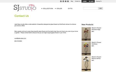 Screenshot of Contact Page jade-glass.com - Contact Us - captured Oct. 29, 2014