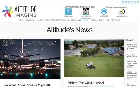 Screenshot of Press Page altitude-imaging.com - Your Latest Aerial Drone/UAV News | Altitude Imaging - captured Oct. 8, 2017