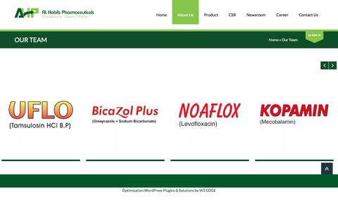 Screenshot of Team Page ahp-lab.com.pk - Al Habib Pharmaceuticals: Our Team - captured Nov. 20, 2016