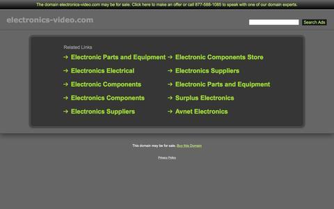Screenshot of Home Page electronics-video.com - Electronics-Video.com - captured Dec. 8, 2015
