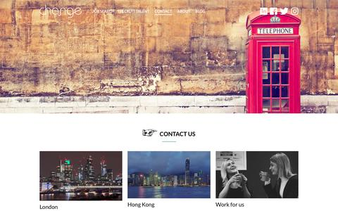 Screenshot of Contact Page thechangegroup.com - Contact Us - The Change Group - captured Oct. 18, 2018