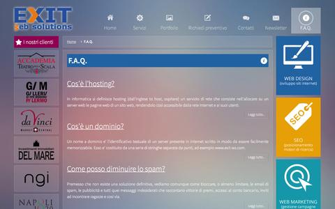Screenshot of FAQ Page exit-ws.com - Frequently Asked Questions - EXIT WEB SOLUTIONS - captured Jan. 20, 2016