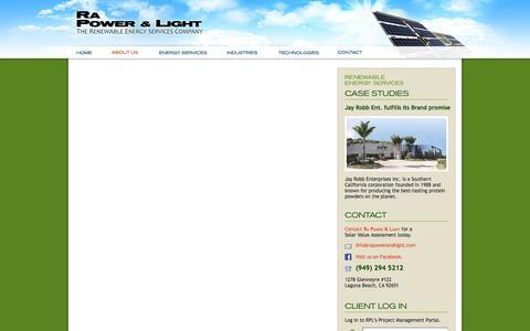 Screenshot of Team Page rapowerandlight.com - Ra Power & Light - captured Oct. 28, 2014