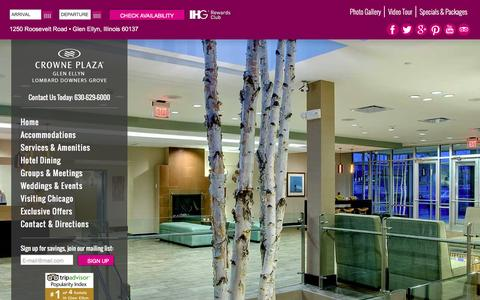 Screenshot of Testimonials Page cpglenellyn.com - Crowne Plaza Glen Ellyn Hotel Guest Comments | Glen Ellyn Hotel Near Chicago O'Hare Airport - captured Feb. 1, 2016