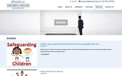 Screenshot of Press Page jamesberrylaw.com - Media   James Berry & Associates - captured Oct. 4, 2017