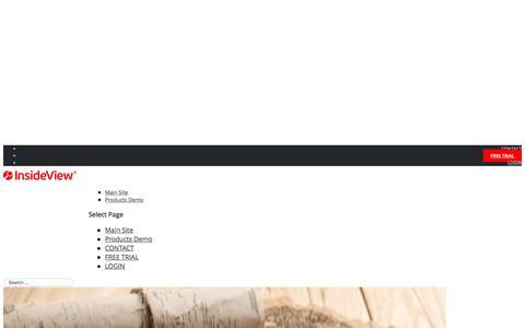 Screenshot of Blog insideview.com - Market Intelligence   InsideView - captured Oct. 15, 2016
