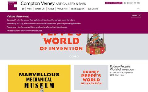 Screenshot of Home Page comptonverney.org.uk - About Compton Verney | Compton Verney - captured July 20, 2018