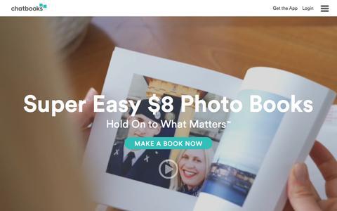 Screenshot of Home Page chatbooks.com - Chatbooks — Print Instagram Photos | Instagram Prints Chatbooks - captured Feb. 10, 2016
