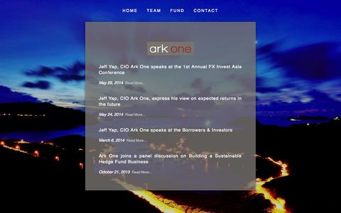 Screenshot of Press Page arkoneasia.com - News — Ark One Asia - captured Oct. 4, 2014