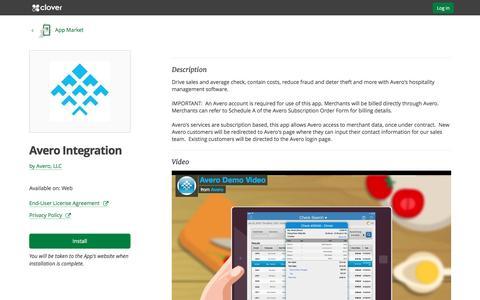 Avero Integration by Avero, LLC | Clover App Market | www.clover.com