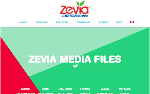 Screenshot of Press Page zevia.com - Media | Zevia Zero Calorie Soda - captured Nov. 3, 2015