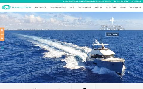 Screenshot of Home Page outerreefyachts.com - Outer Reef Yachts | Global Long Range Yacht Builder - captured Nov. 7, 2018