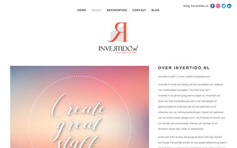Screenshot of About Page invertido.nl - Invertido.nlOver Invertido.nl - Invertido.nl - captured Nov. 14, 2018