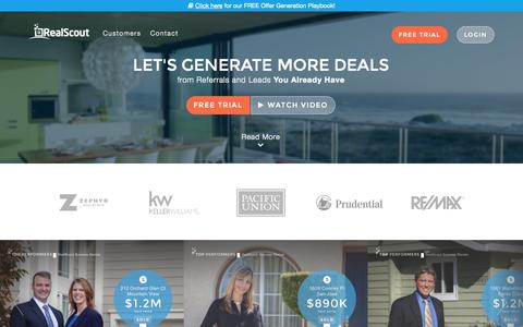 Screenshot of Home Page realscout.com - Real Estate Offer Generation | RealScout - captured July 3, 2015